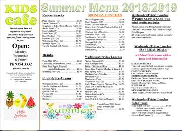 rostrata primary school summer menu